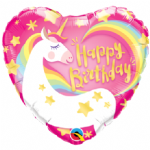 "Birthday Magical Unicorn Foil Balloon (18"") 1pc"